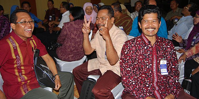 Smiling headmasters